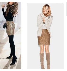 NWT LOFT Sequin Skirt